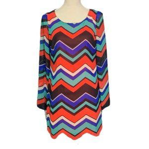GB Chevron Print Shift Dress Sz 7